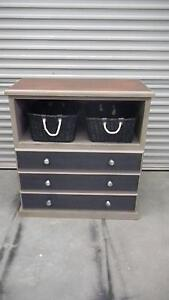 Storage unit with shelf and drawers and baskets. Capel Capel Area Preview