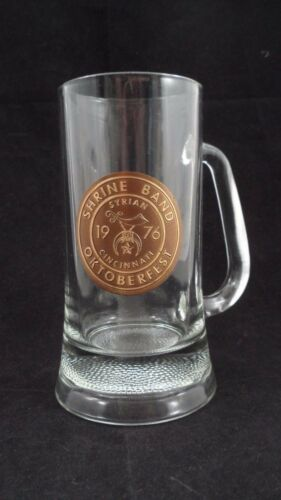 1976 Syrian Shrine Band Cincinnati Ohio Masonic Oktoberfest Glass Beer Stein