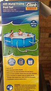 10ft metal frame pool set plus extras Kiara Swan Area Preview