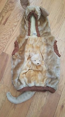 HALLOWEEN COSTUME Baby Kangaroo Infant 12-24M Soft Body Suit Furry Warm Adorable