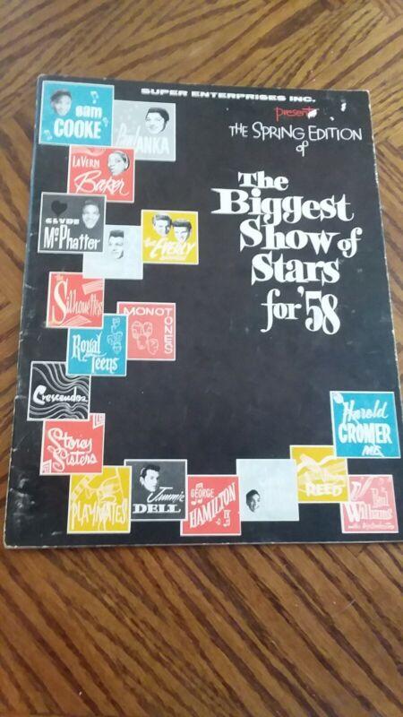 1958 SHOW OF STARS PROGRAM SAM COOKE EVERLY BRO SIGNED BY FRANKIE AVALON + BONUS
