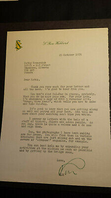L. Ron Hubbard Typed Letter Signed 25 Oct 1975  Founder Scientology & -