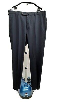 Incotex Standard Fit Pattern B midnight Navy Blue Flat Front Dress Pants 38 Wool