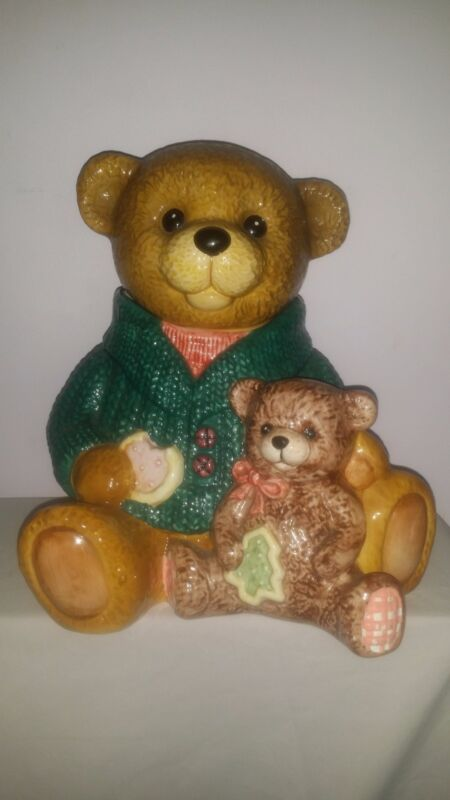 Mamma And Baby Teddy Bear Cookie Jar