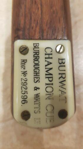 Vintage Burwat Champion snooker cue (antique)