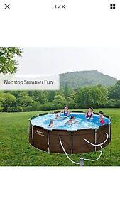Bestway above ground swimming pool .steel frame filter pump 12ft 3.66 Werribee Wyndham Area Preview