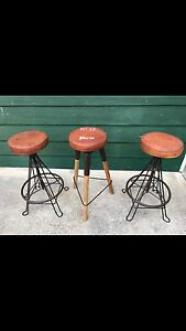 3 x RUSTIC INDUSTRIAL BAR STOOLS - AS NEW Enfield Burwood Area Preview