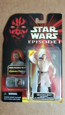 "Star Wars Episode 1 Qui Gon Jinn Jedi Master 3.75"" Action Figure Phantom Menace"