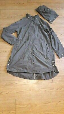 Ilse Jacobsen Hornbaek coat.RRP £185.Size 38 or 12 UK.Khaki.Water repellent