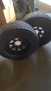 Nissan off road steel rim tyres Lower Chittering Chittering Area Preview
