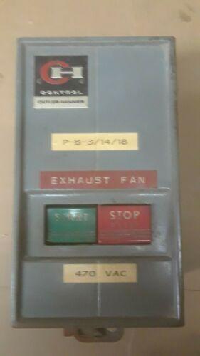 Cutler Hammer 6-200-3 NEMA Contactor 9115H171K  Manual Start Stop w/ overloads