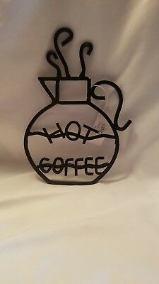 Wrought Iron Hot Coffee sign 9.5