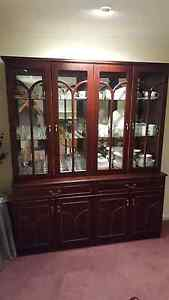 Mahogany Buffet with display cabinet Aberfoyle Park Morphett Vale Area Preview