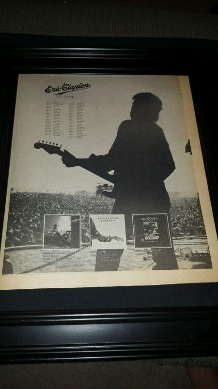 Eric Clapton Rare 1979 Original Tour Promo Poster Ad Framed!
