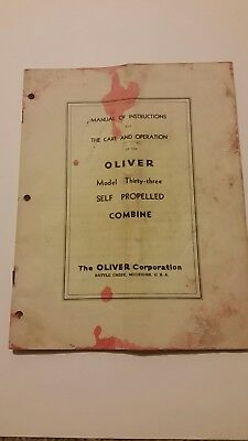 Oliver Thirty-three Self Propelled Combine Operation Manual33