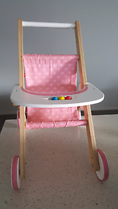 Hape wooden toy pram walker Gillieston Heights Maitland Area Preview