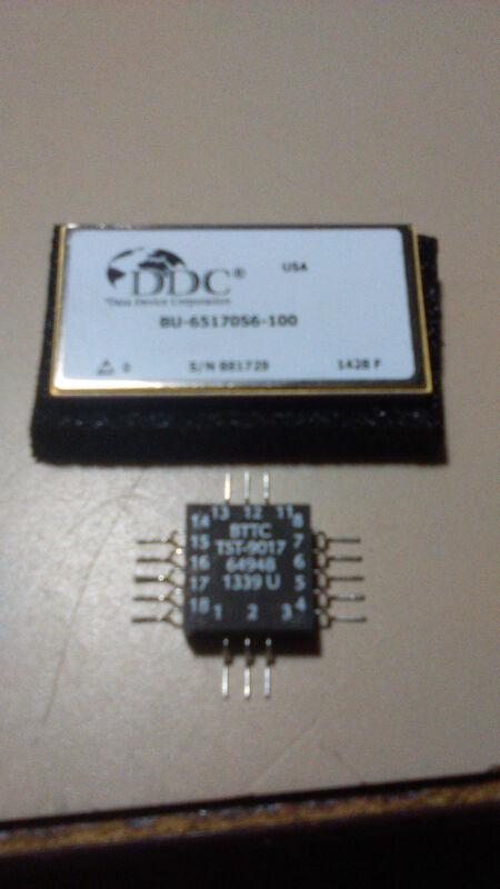 DDC BU-65170S6-100 dual channel MIL1553 tranceiver with bus transformer