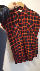 Fear of god x pacsun sleeveless flannel Rydalmere Parramatta Area Preview