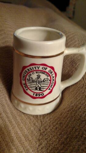 The UNIVERSITY of Oklahoma old Stein Mug Vtg Lewis Bros. Ceramics Yonkers NY,USA
