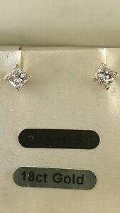 One Pair 1ct Diamond Gold Stud Earings Highland Park Gold Coast City Preview