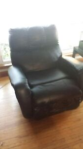 Leather recliner rocking chair