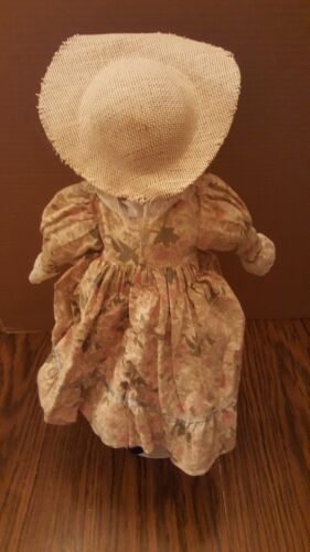 Vintage Anco Porcelain Face Doll With Stand Blond Hair 1991  - $14.99