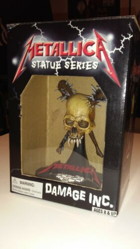 METALLICA Pushead DAMAGE INC 2002 rare Skull 3D Statue in BOX Master of Puppets