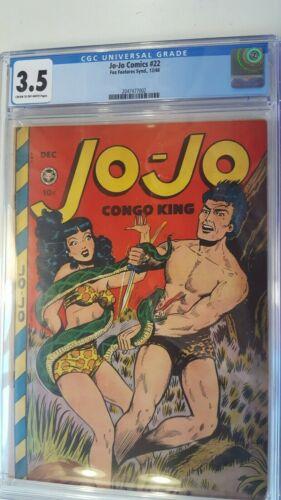 JO-JO COMICS # 22 CGC 3.5 FOX FEATURES 1948 CLASSIC bondage cover