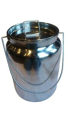 10 Qt Stainless Steel Milk Can Tote Seamless For Goat Cow Or Sheep