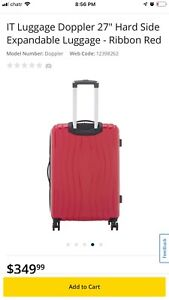 IT Luggage Doppler 27in Hard Side Expanda Luggage - Ribbon Red