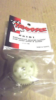 10TRAXXAS#4181 DIFFERENTIAL GEAR 45 TOOTH/SIDE COVER PLATE&SCREWS,MADE IN TAIWAN