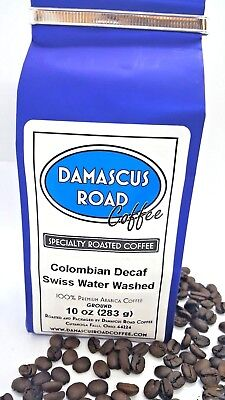 Specialty Roasted Coffee, Swiss Water Washed Colombian Decaf, Whole Bean/ Ground ()