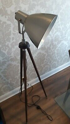 Barker and stonehouse Tripod Studio Floor Lamp Spotlight Vintage Wooden Light
