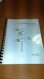 HTC ONE MINI PRINTED INSTRUCTION MANUAL USER GUIDE 172 PAGES A5