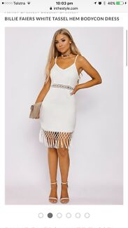 White bodycon in the style dress
