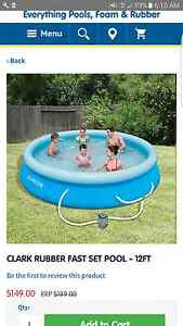12ft Clark rubber pool Tingalpa Brisbane South East Preview