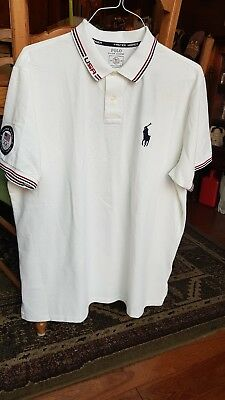 Polo Ralph Lauren USA Olympic White Collar Short Sleve Shirt 2016 XXL XG