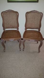 2 WOODEN & RATTAN CHAIRS Nedlands Nedlands Area Preview