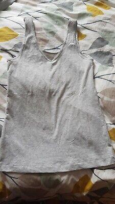 Jane and Bleecker Ladies Grey Vest Top Size S