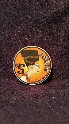 Vintage Luxor Casino Las Vegas  $5 Poker Chip