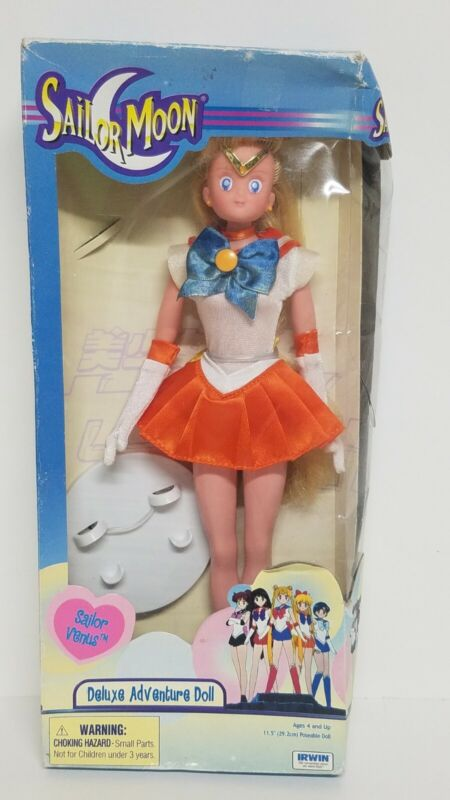 "Sailor Moon: Sailor Venus Deluxe Adventure Doll – 11.5"" Tall NIB new"