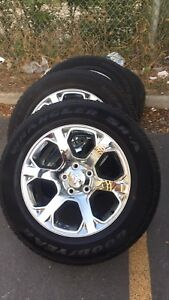"Gorgeous 20"" Dodge Ram Rims And Tires with TPMS"