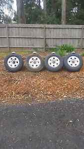 Wheels and tyres suit toyota hilux 205/16 Emerald Cardinia Area Preview
