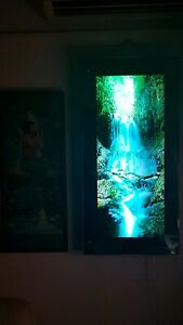 Vintage Animated Waterfall Light Up Picture Lamp with Nature Sounds!