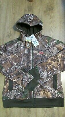 New UNDER ARMOUR Womens Full Zip CAMO HOODIE JACKET 1247102 SZ S ,M, Large & XL
