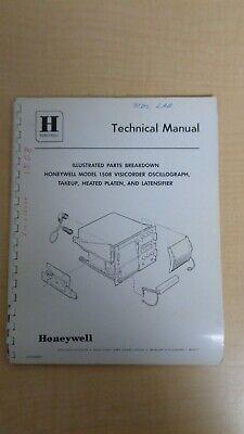 Honeywell 1508 Visicorder Oscillograph Illustrated Parts Breakdown Manual 6f B8