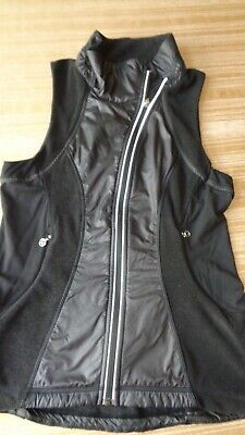 Lululemon Women's Fleece Running Vest Sz 8 Black