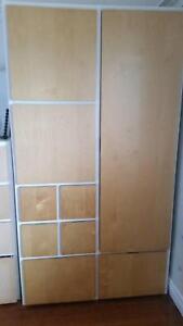 Blond Timber White Ikea Linen Cupboard Drawers Wardrobe