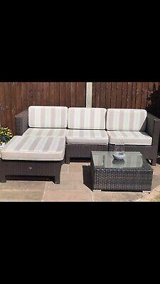 brown rattan garden furniture set