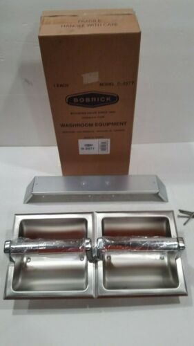 Bobrick B-6977 Recessed Double Roll Toilet Paper Tissue Dispenser Stainless NEW
